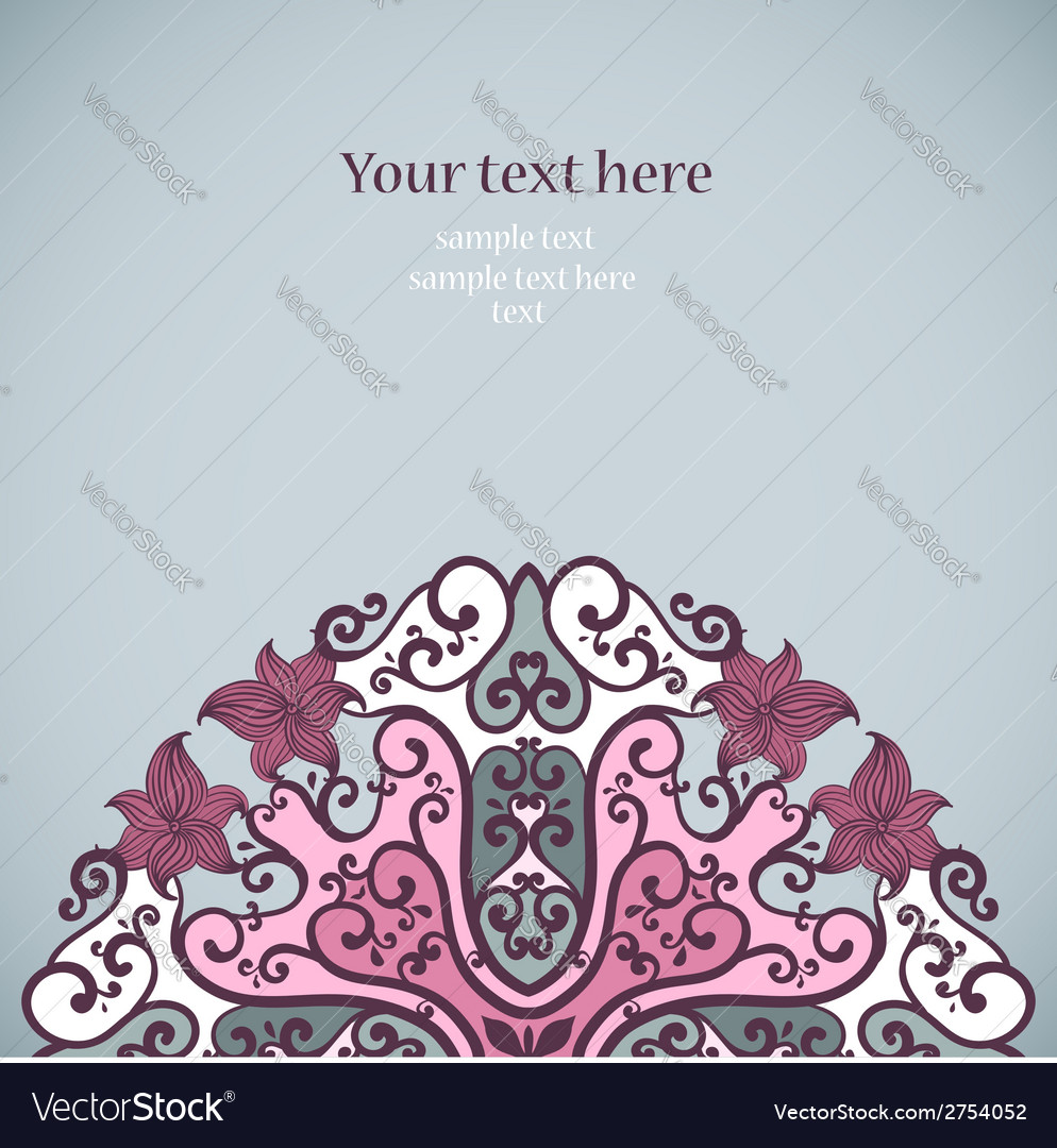 Elegant invitation card vector | Price: 1 Credit (USD $1)