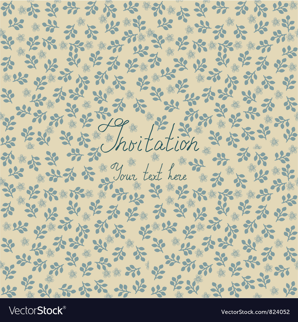 Floral invitation background vector | Price: 1 Credit (USD $1)