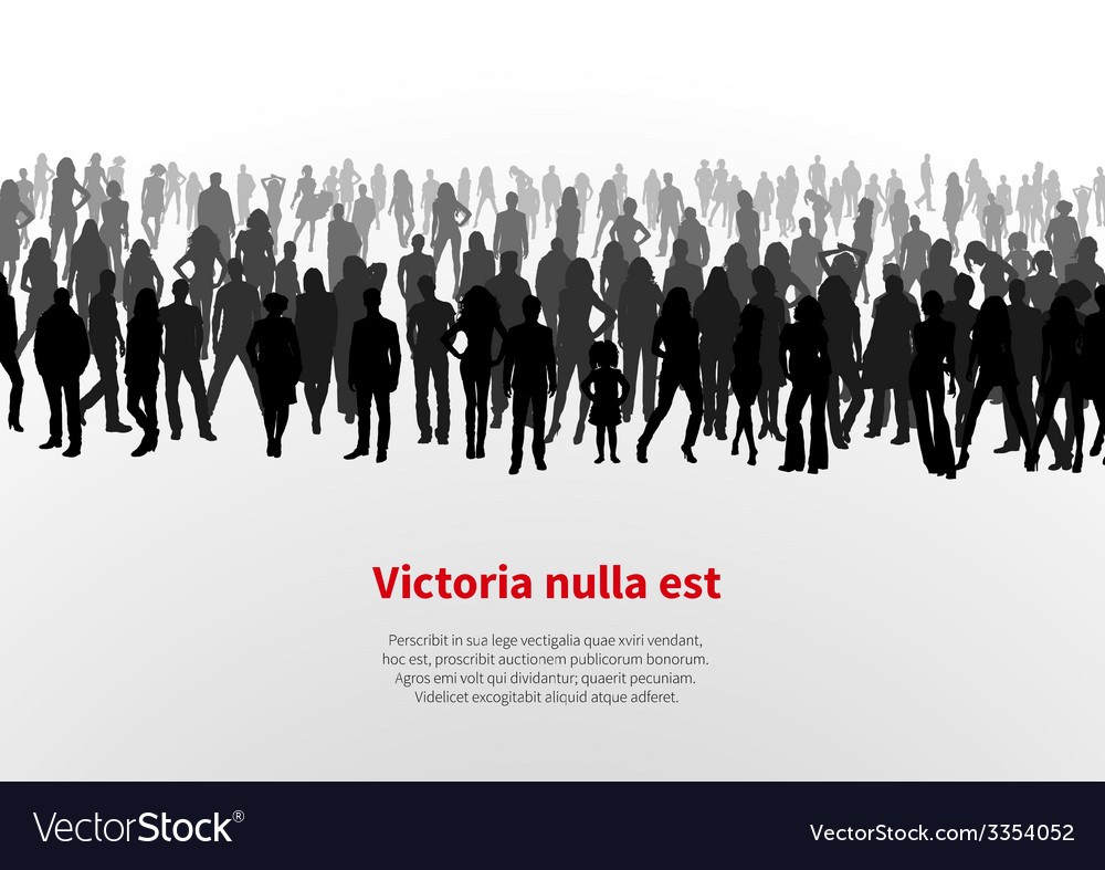 Large group of people background vector | Price: 1 Credit (USD $1)