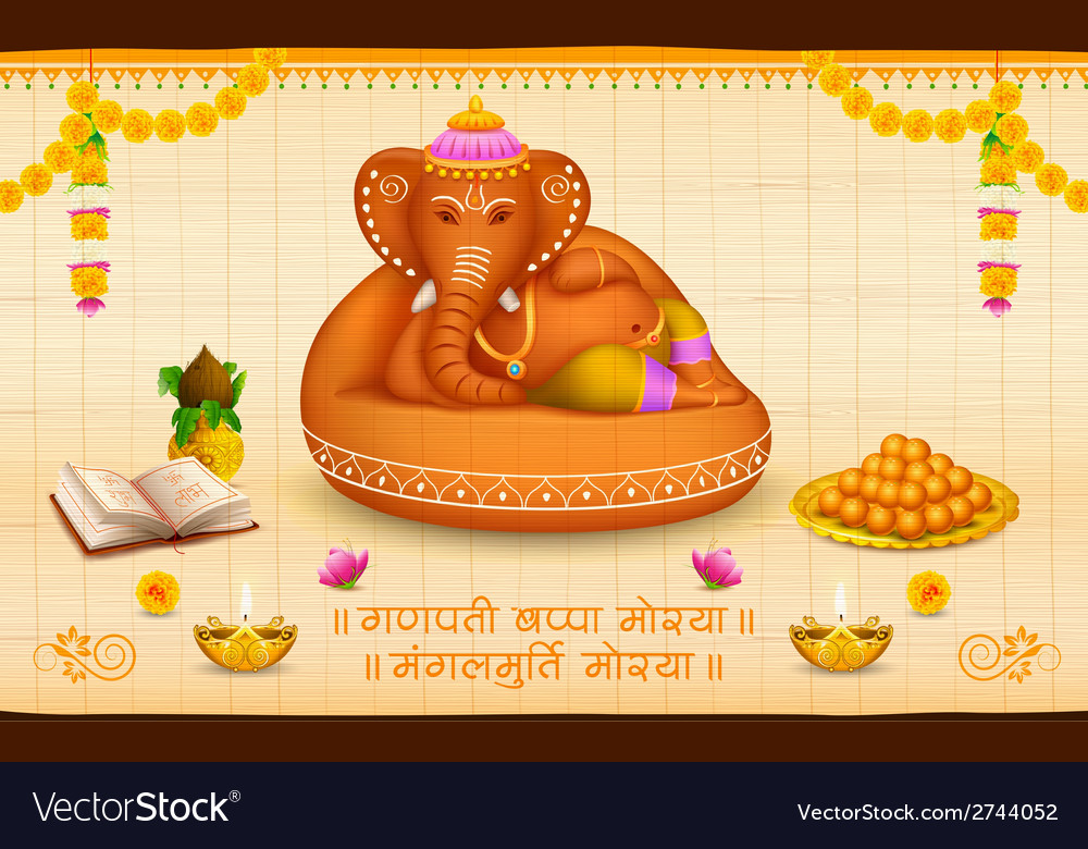 Lord ganesha made of clay ganesh chaturthi vector | Price: 1 Credit (USD $1)