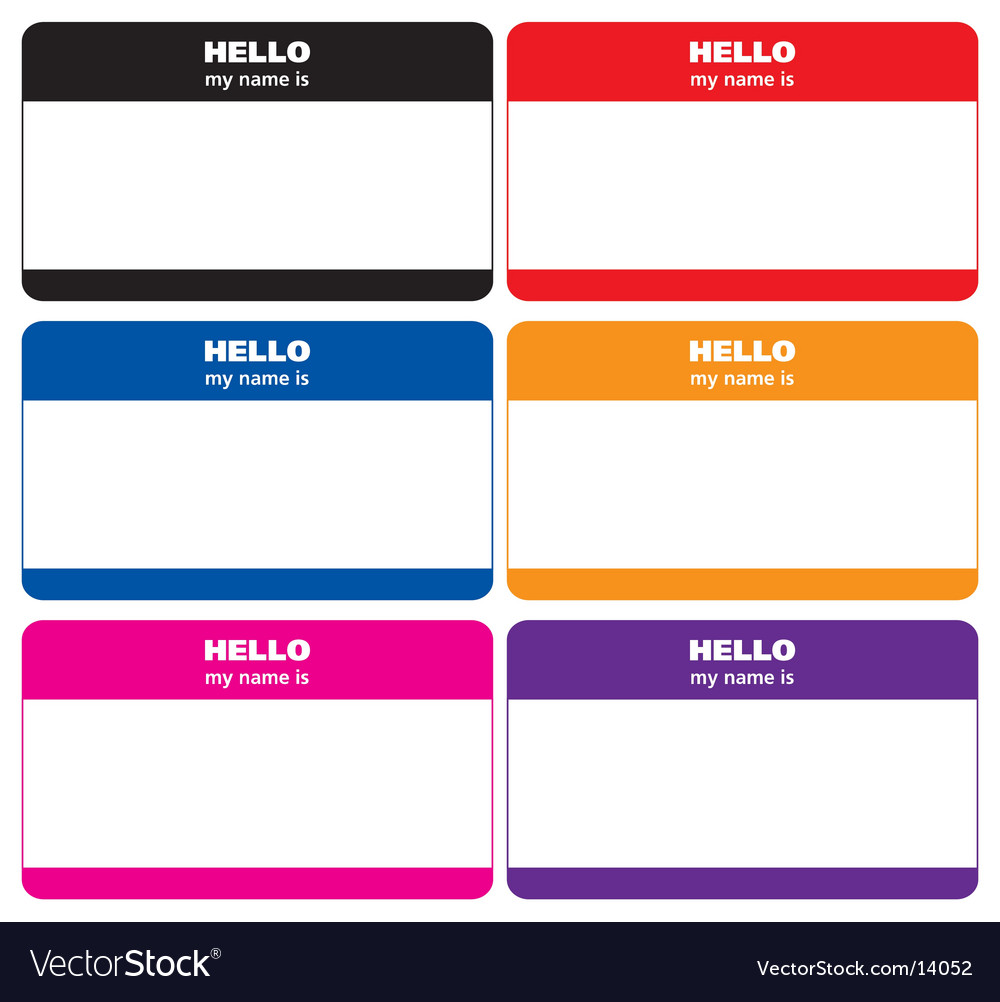 Name tags vector | Price: 1 Credit (USD $1)