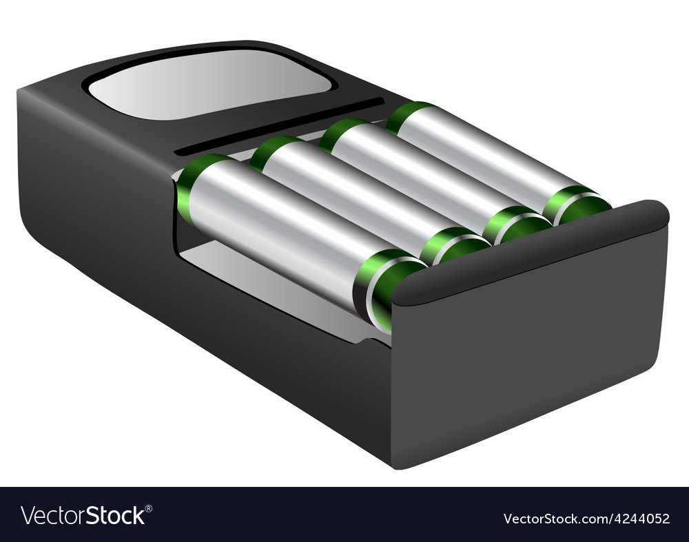 Rechargeable batteries vector | Price: 1 Credit (USD $1)