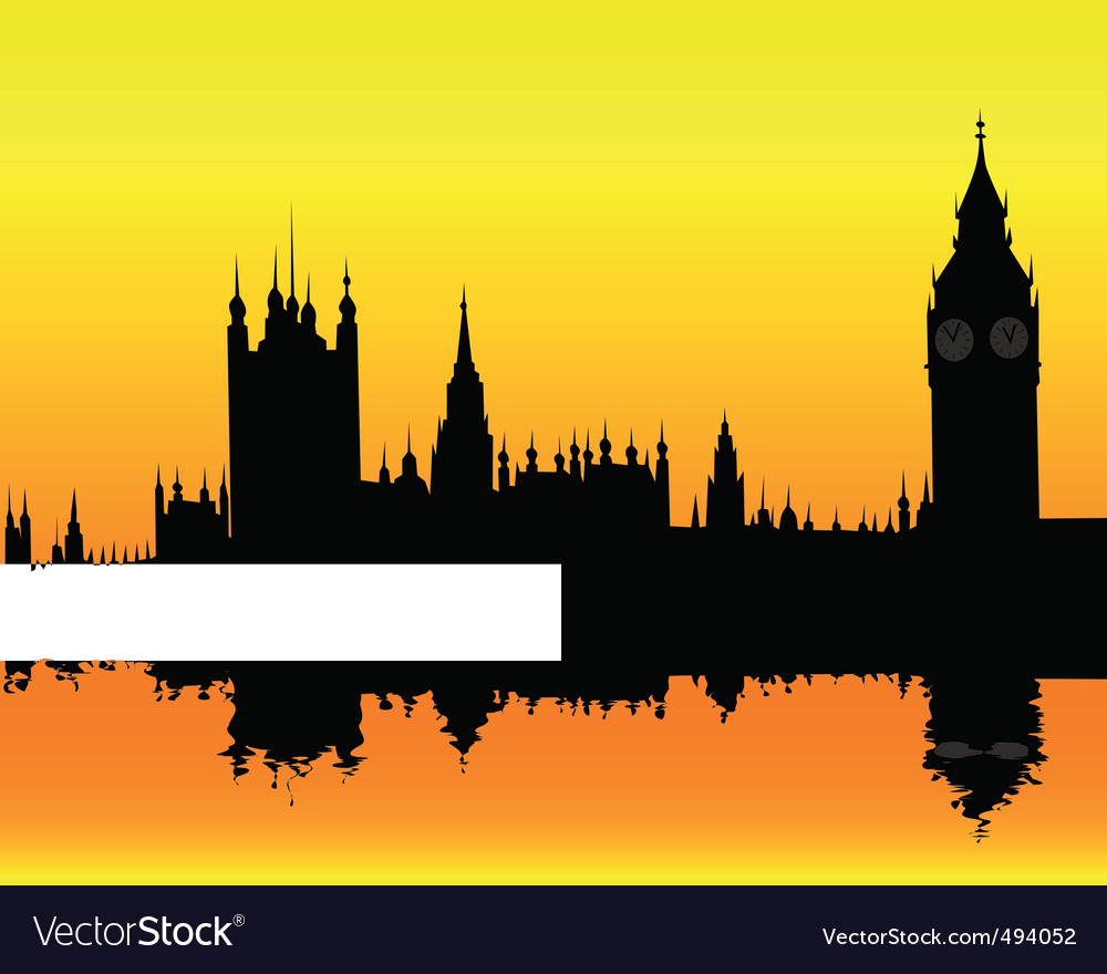 Silhouette of the london landscape vector | Price: 1 Credit (USD $1)