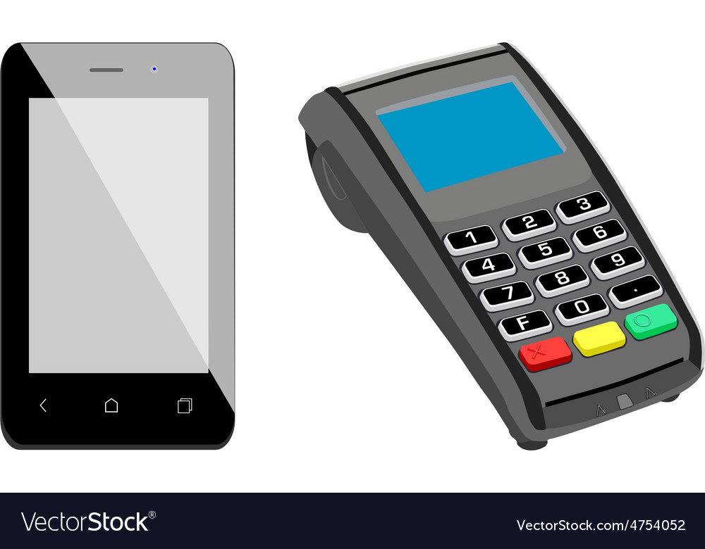 Smartphone and pos vector | Price: 1 Credit (USD $1)