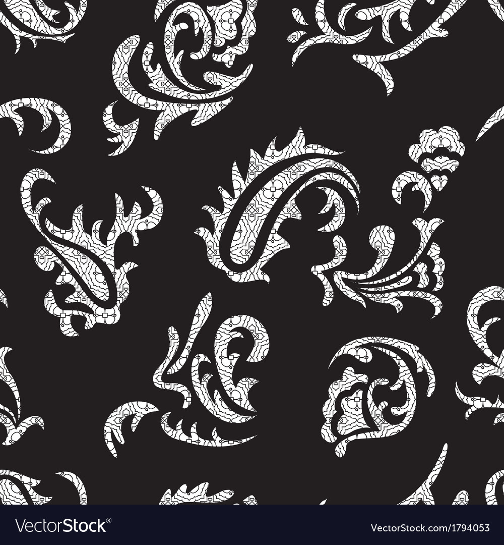 Abstract seamless pattern with curves vector | Price: 1 Credit (USD $1)