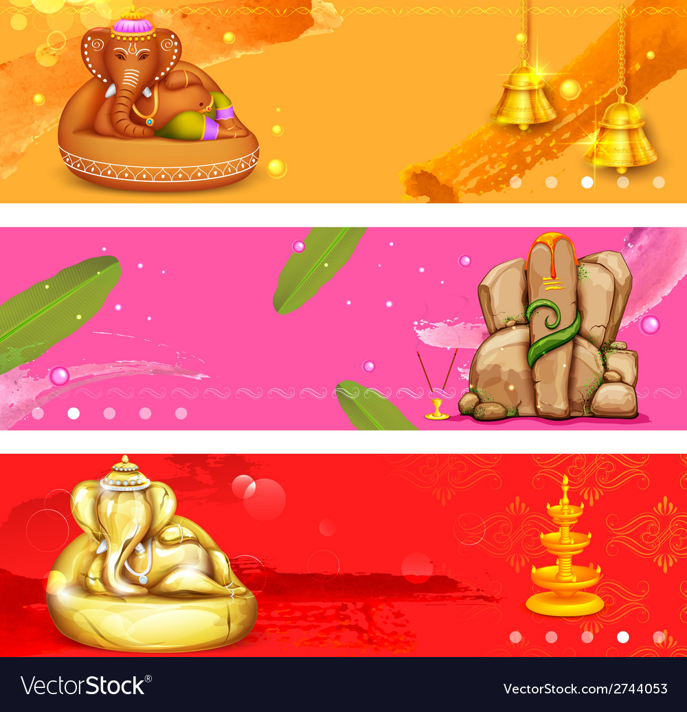 Banner for ganesh chaturthi vector | Price: 1 Credit (USD $1)
