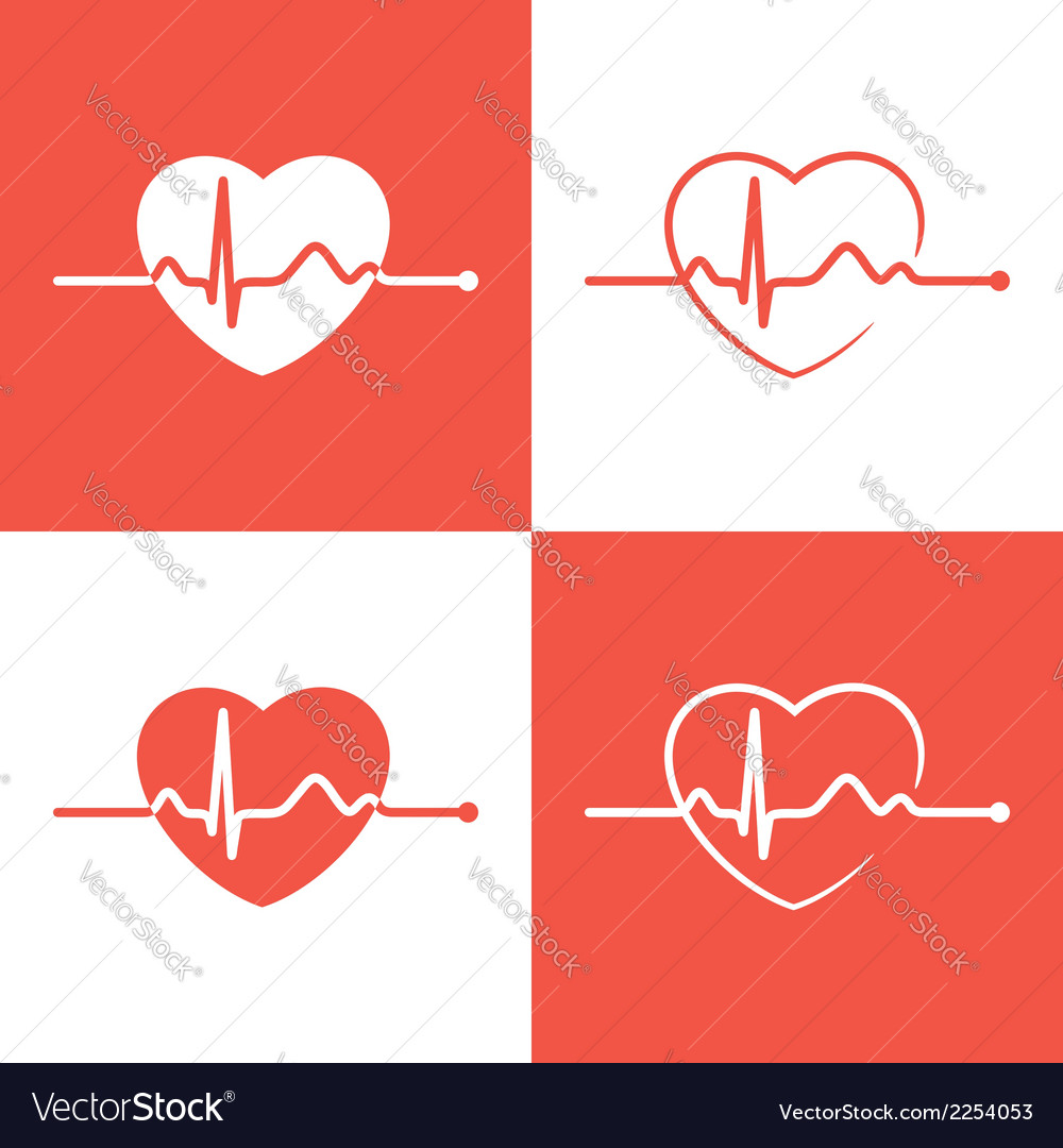 Cardiogram icons vector | Price: 1 Credit (USD $1)