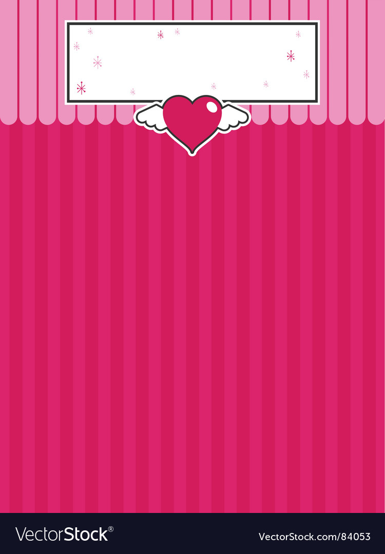 Decorative heart background vector | Price: 1 Credit (USD $1)