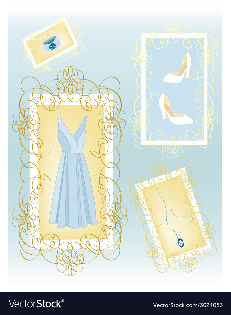 Fashion dress vector | Price: 1 Credit (USD $1)