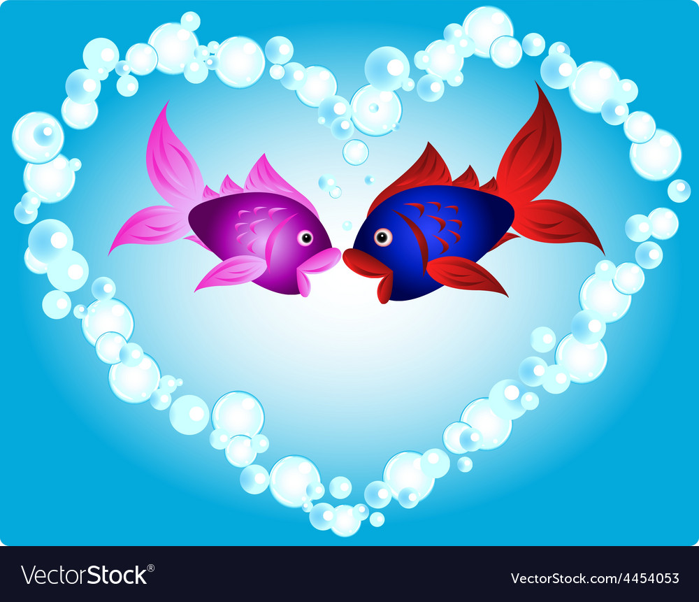 Fish love vector | Price: 1 Credit (USD $1)