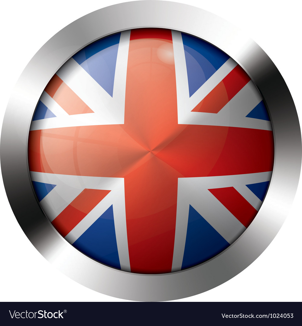 Flag metal glass europe united kingdom vector | Price: 1 Credit (USD $1)