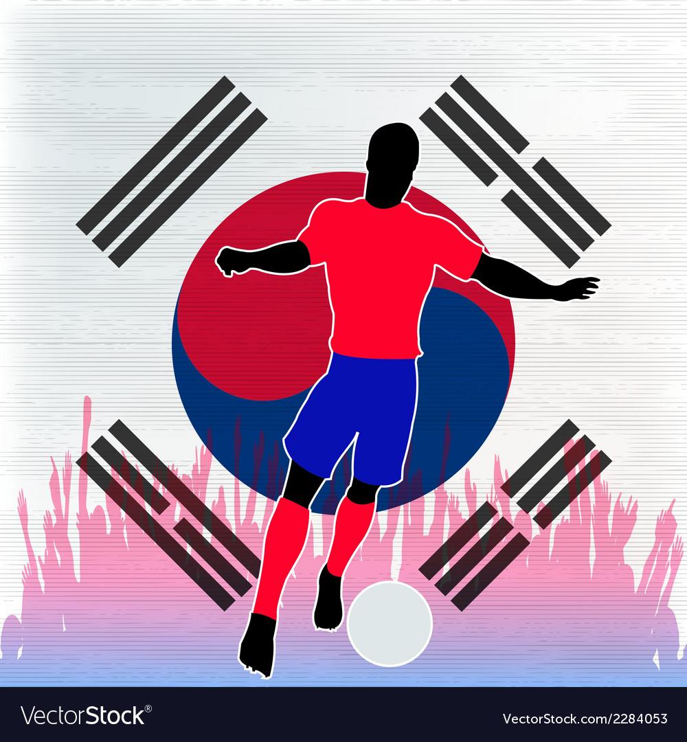 Football korea vector | Price: 1 Credit (USD $1)