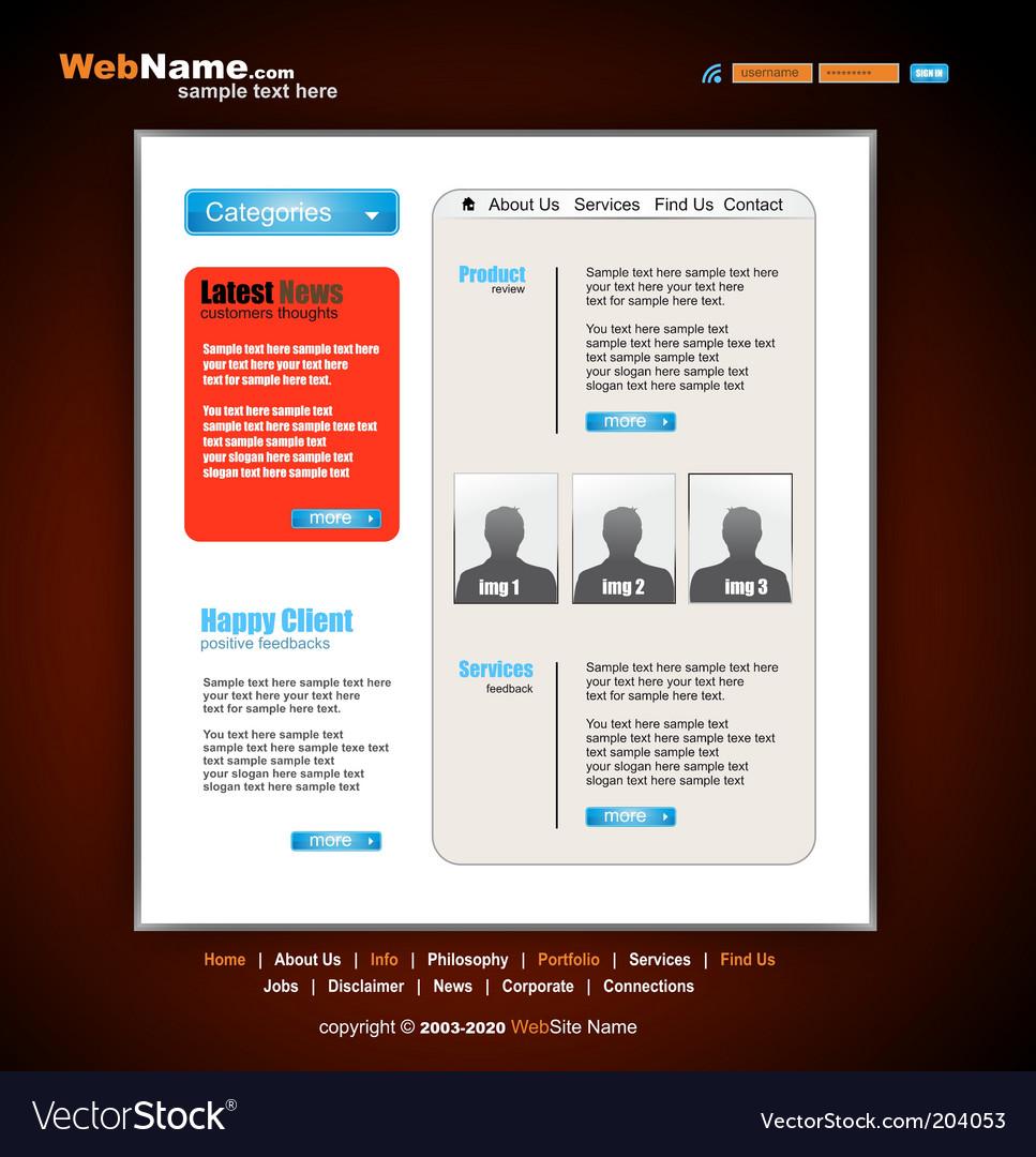Futuristic style website template vector   Price: 3 Credit (USD $3)