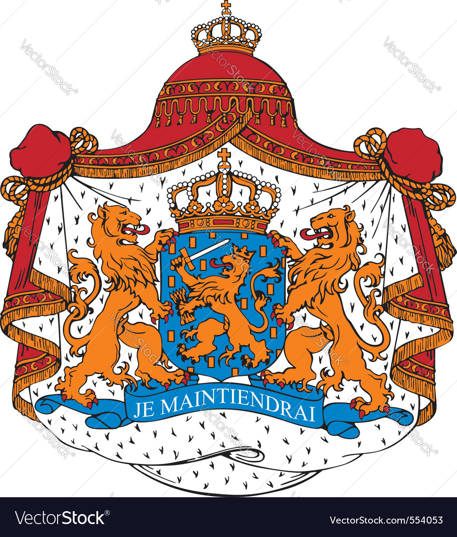 Ial image of coat of arms of netherlands vector | Price: 1 Credit (USD $1)