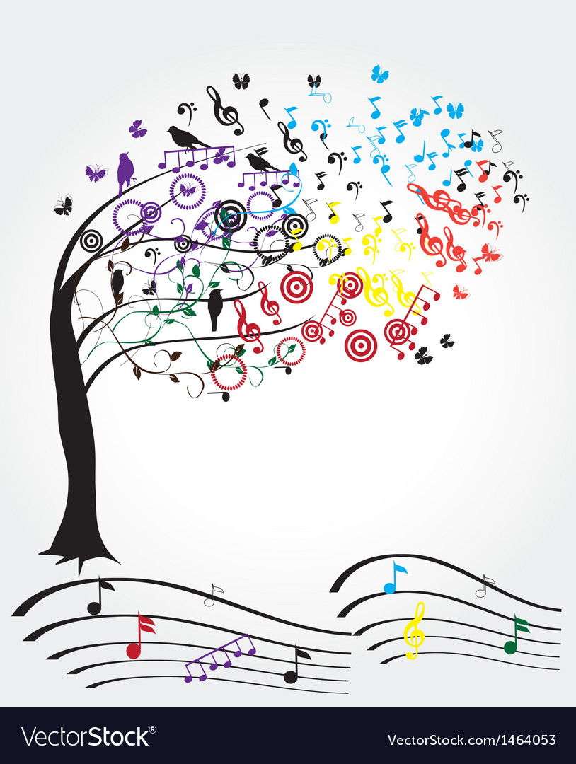 Music tree vector | Price: 1 Credit (USD $1)