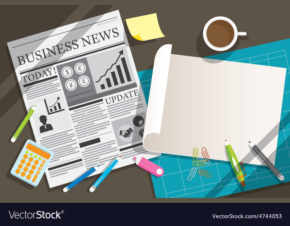 Newspaper and blank paper object background vector   Price: 3 Credit (USD $3)