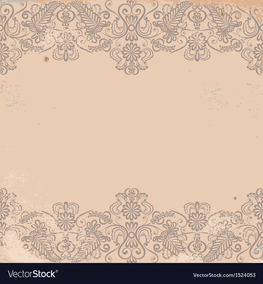 Old worn texture with pattern border vector | Price: 1 Credit (USD $1)