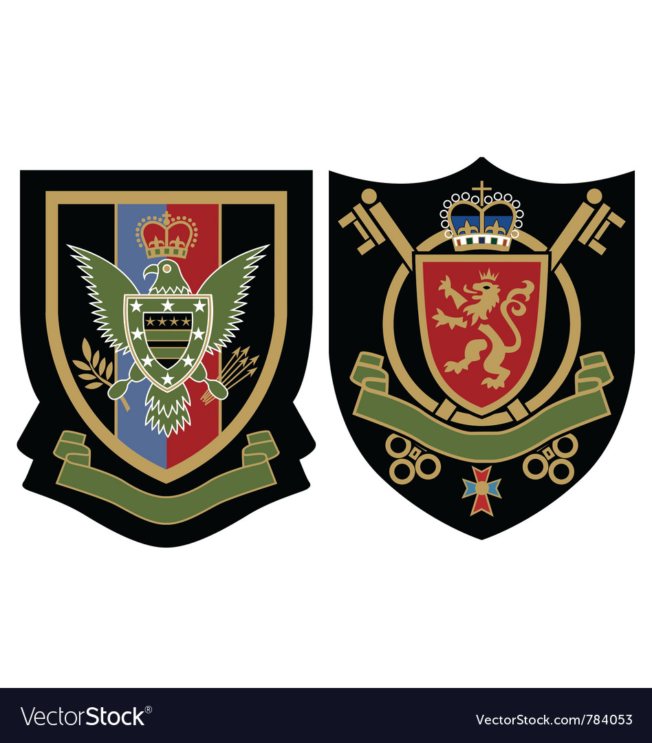 Royal emblem badge vector | Price: 1 Credit (USD $1)