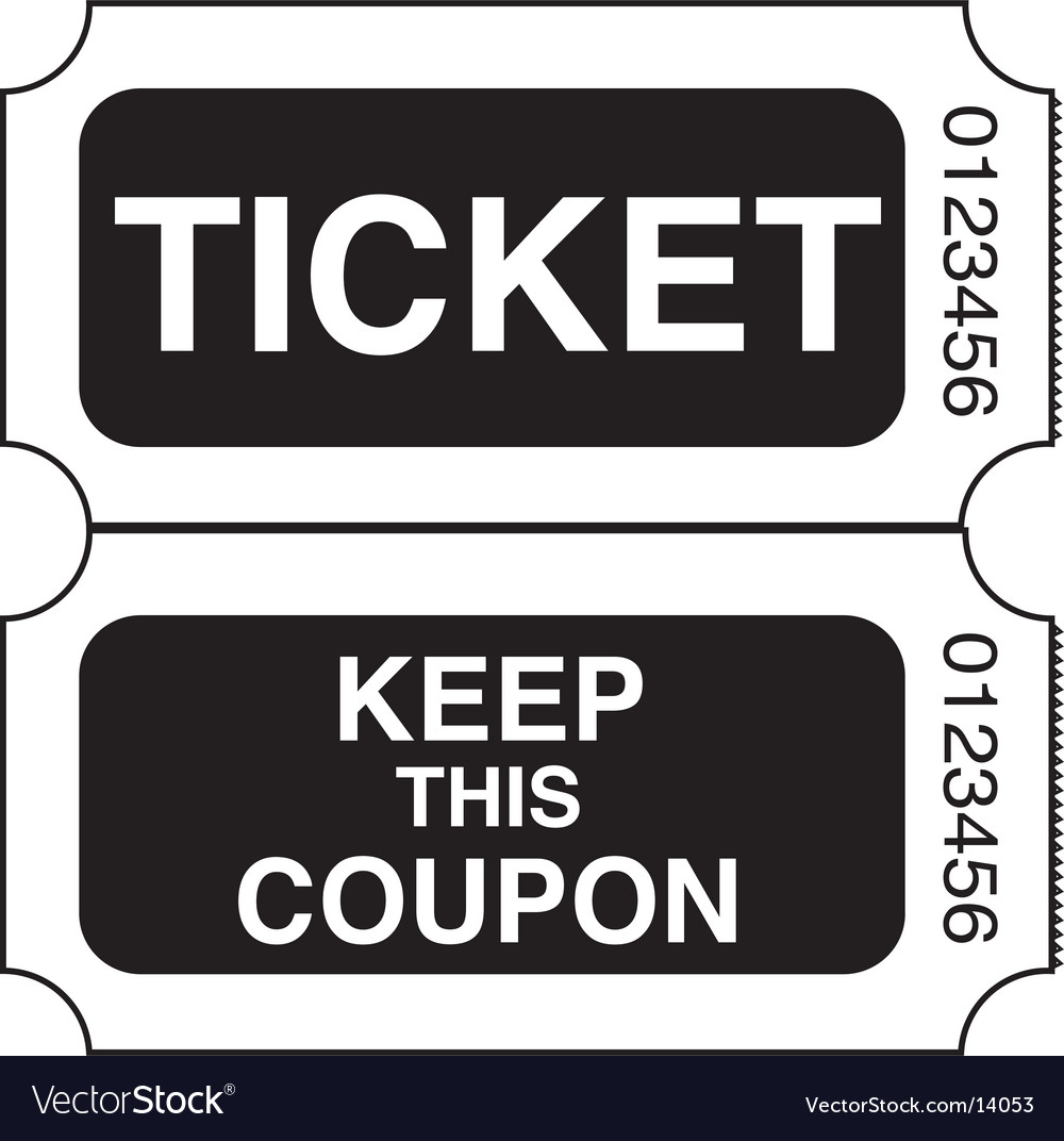 Ticket stub vector | Price: 1 Credit (USD $1)