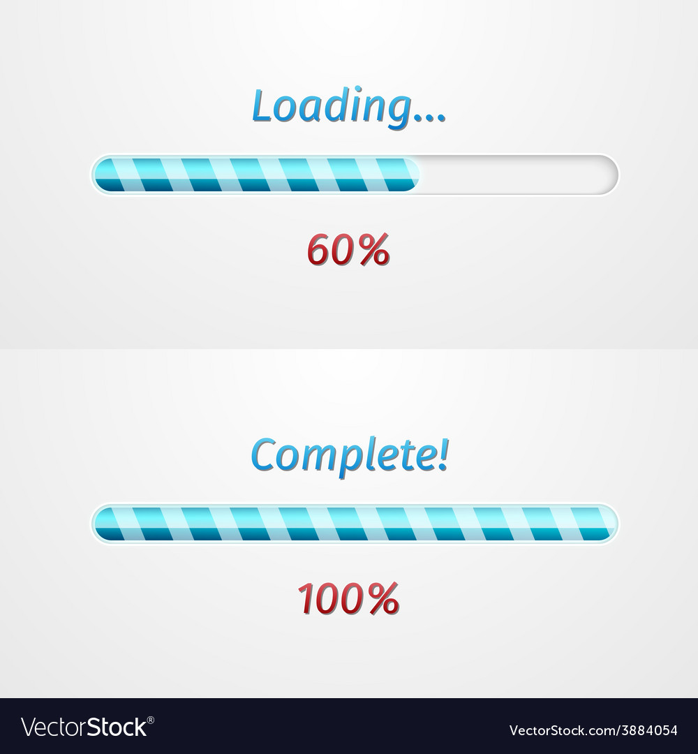 Blue loading bars vector | Price: 1 Credit (USD $1)