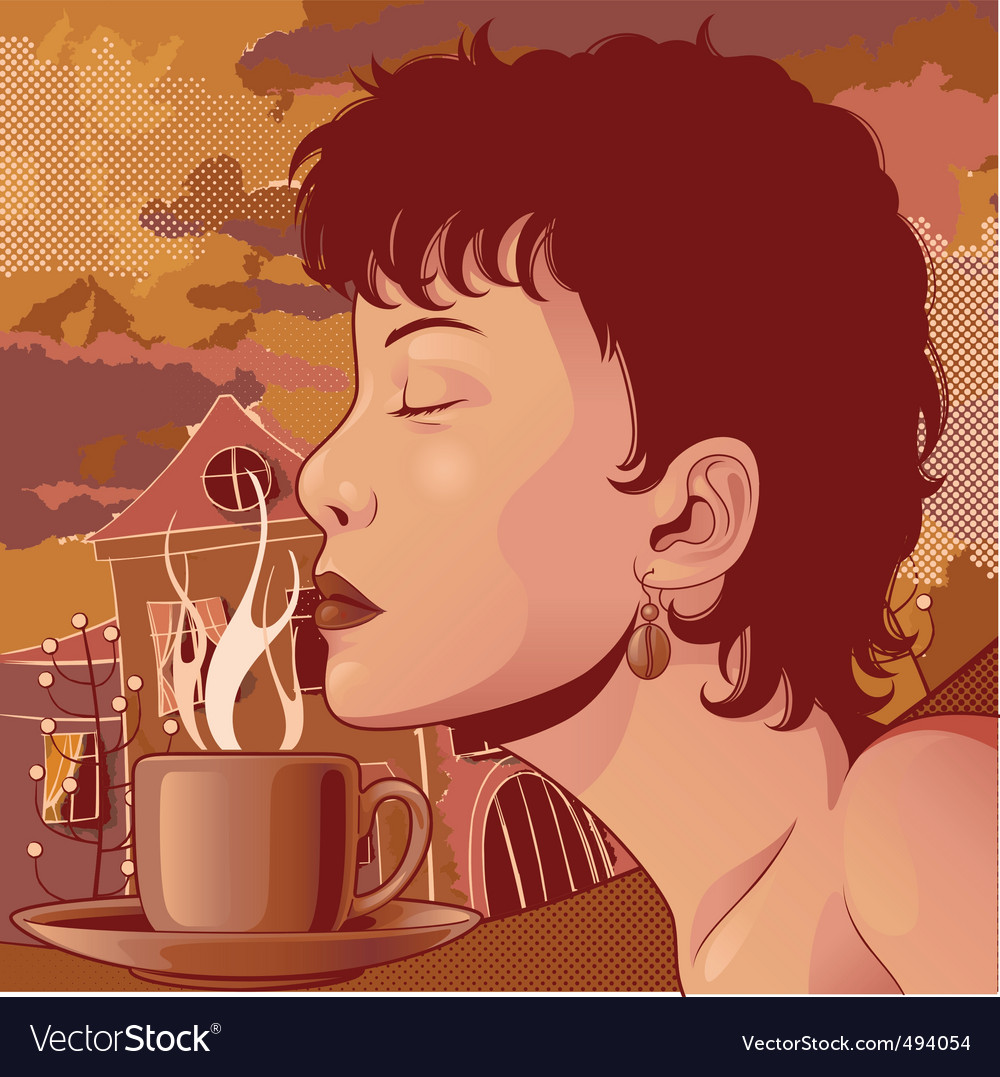 Coffee aroma vector | Price: 5 Credit (USD $5)