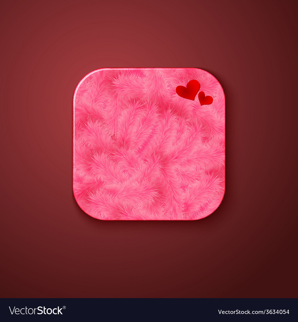 Fluffy texture icon stylized like mobile app vector | Price: 1 Credit (USD $1)