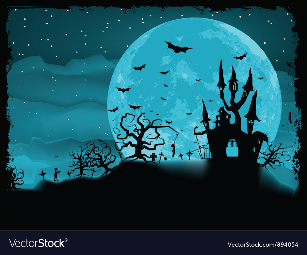 Halloween poster with zombie vector   Price: 1 Credit (USD $1)