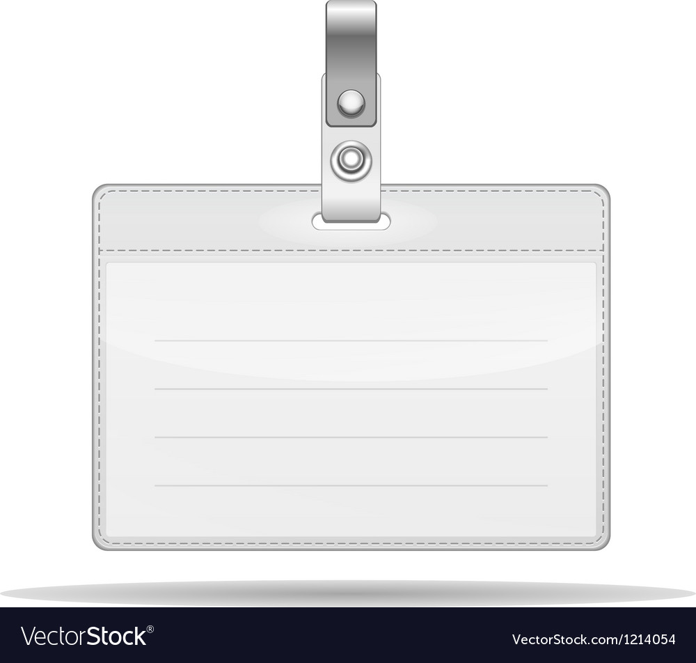 Name tag isolated on white vector | Price: 1 Credit (USD $1)
