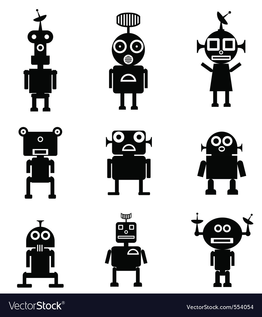 Robot characters vector | Price: 1 Credit (USD $1)