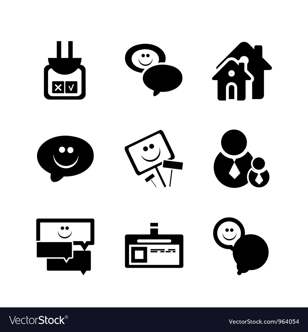 Social internet icons vector | Price: 1 Credit (USD $1)
