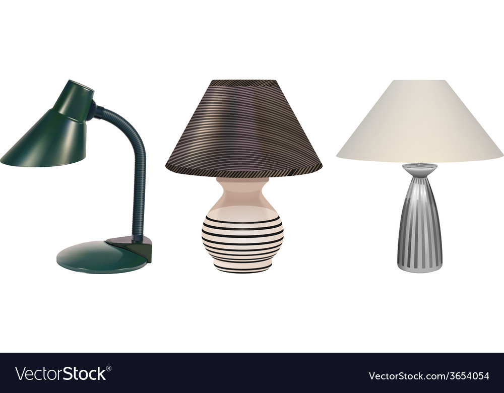 Table lamps set vector | Price: 3 Credit (USD $3)
