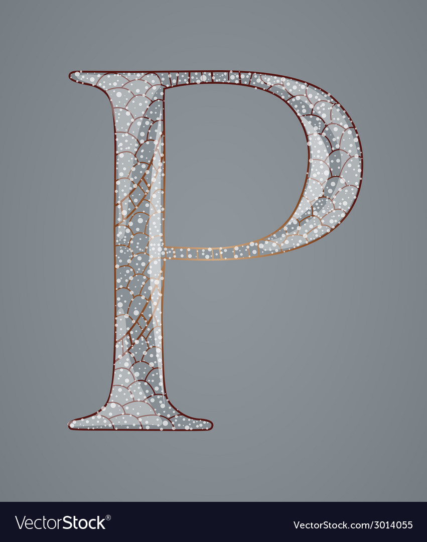 Abstract letter p vector | Price: 1 Credit (USD $1)