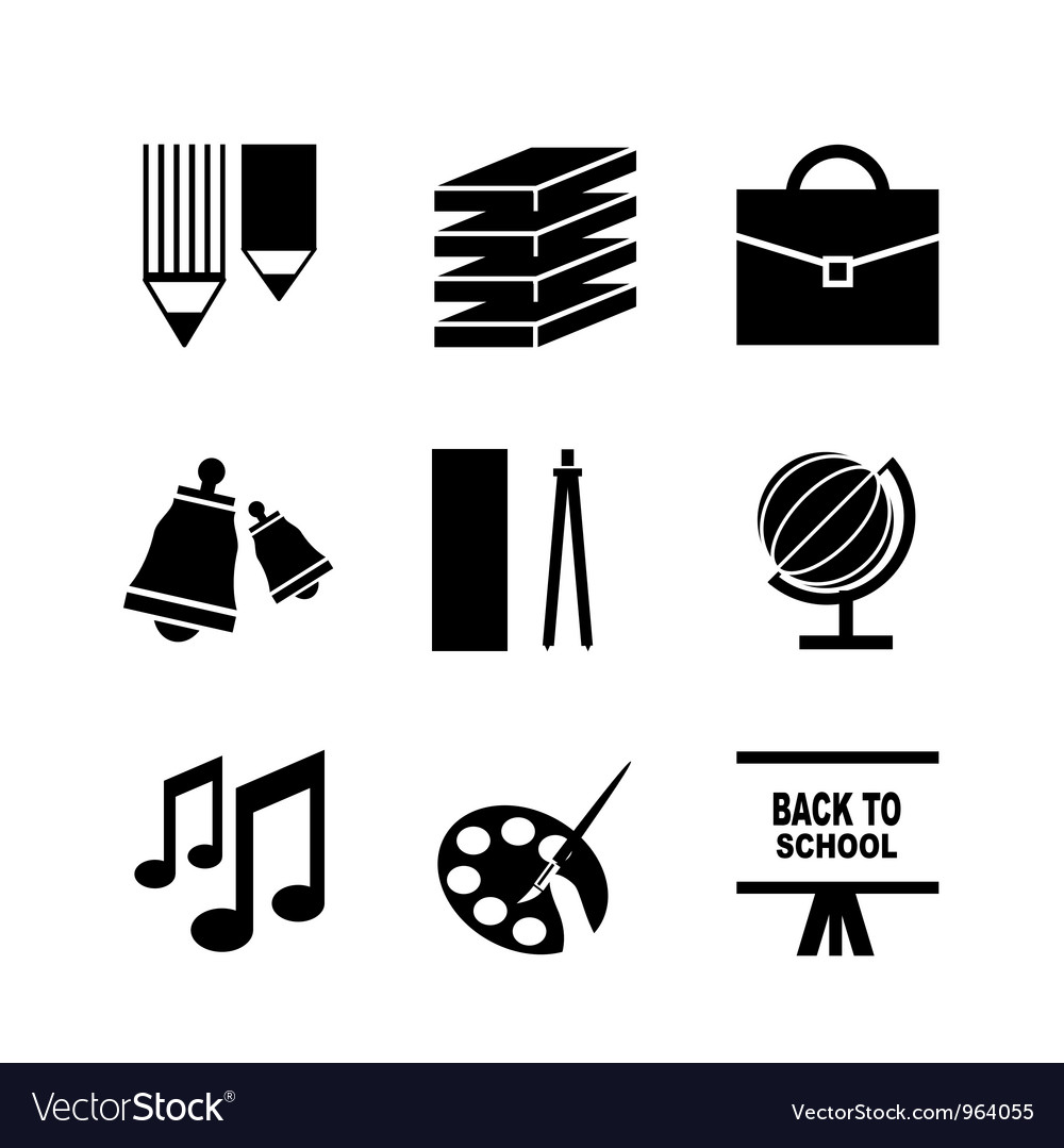Back to school icons vector | Price: 1 Credit (USD $1)