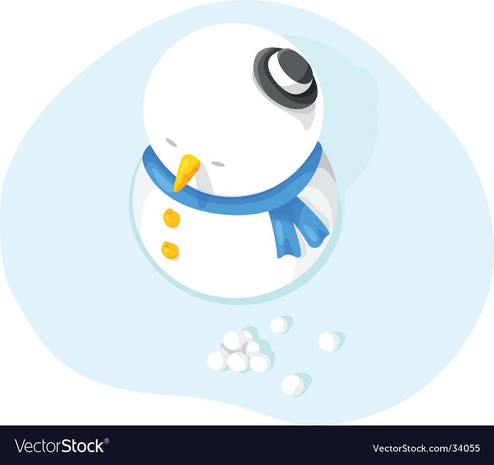 Christmas-snowman vector | Price: 1 Credit (USD $1)