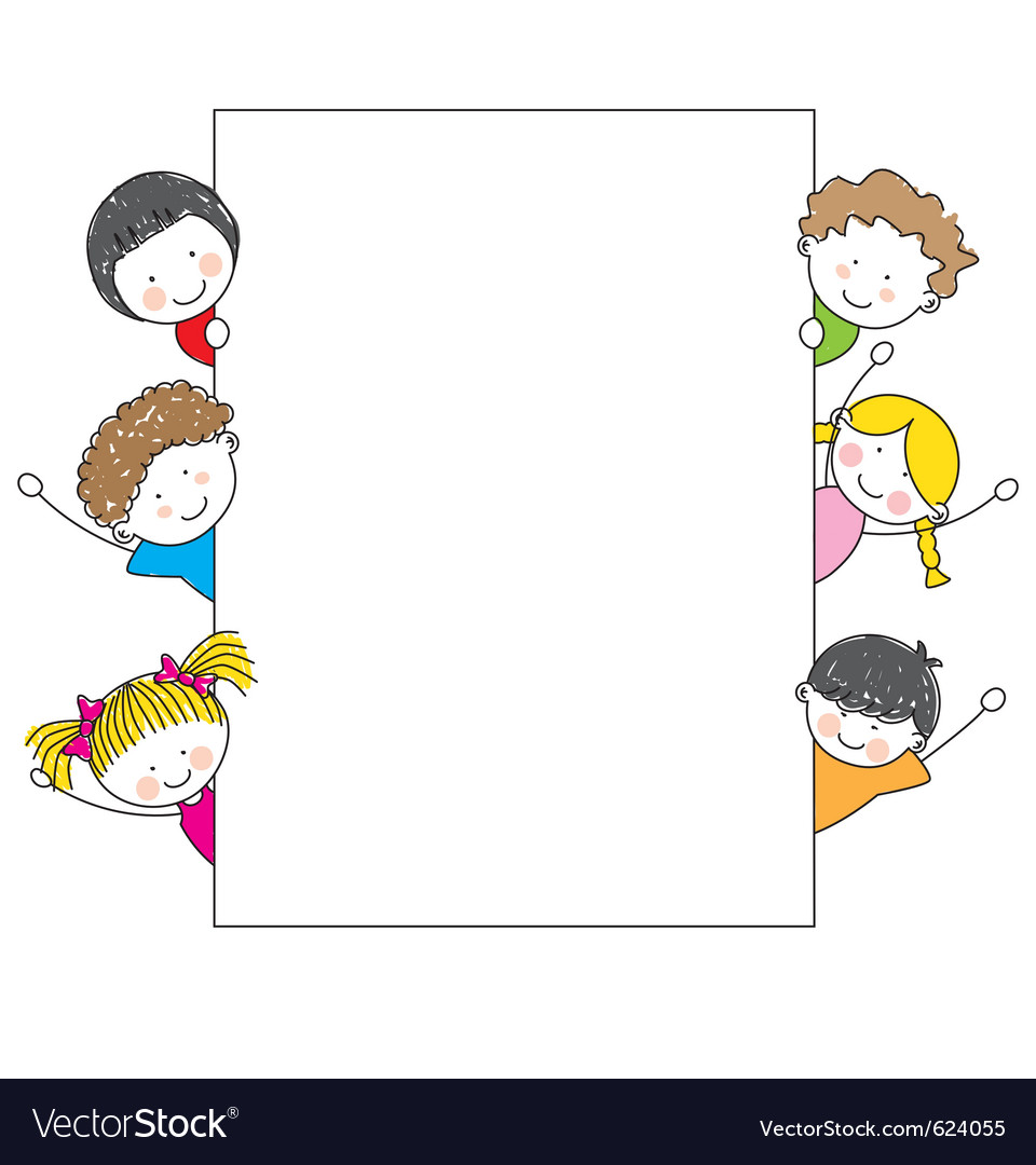 Kids frame vector | Price: 1 Credit (USD $1)