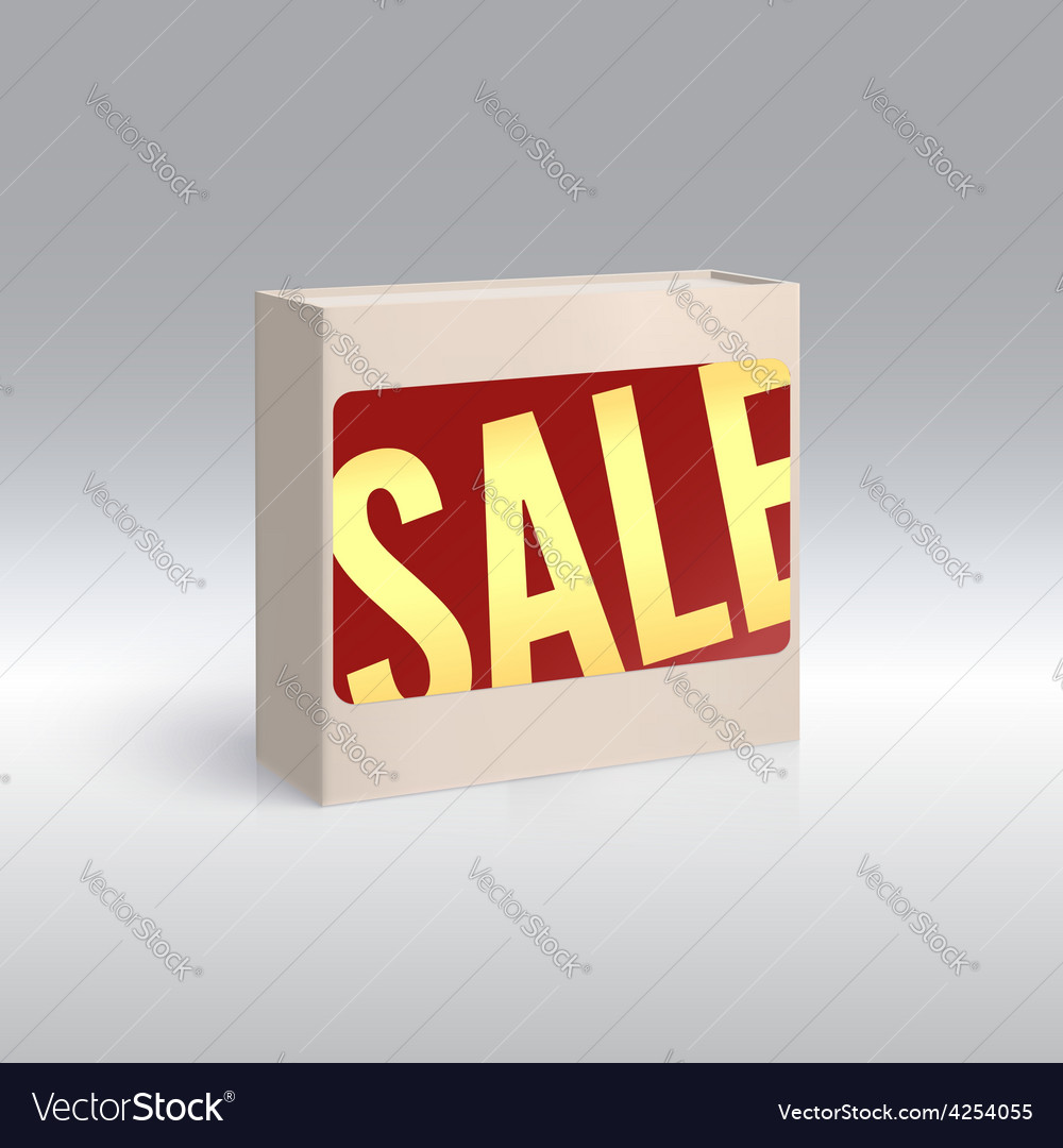 Packing with sale label vector | Price: 1 Credit (USD $1)
