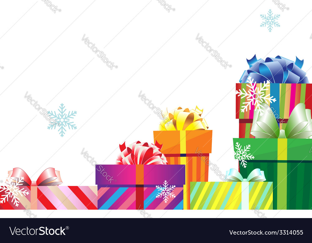 Pile of christmas gift boxes vector | Price: 1 Credit (USD $1)