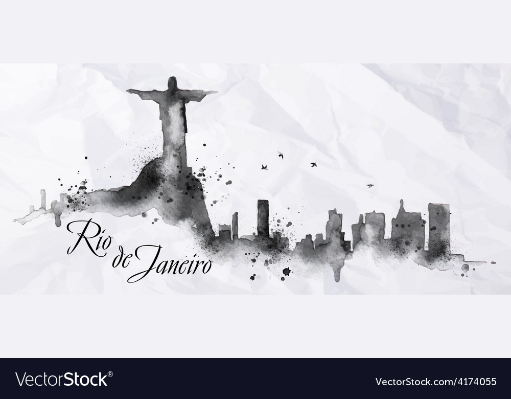 Silhouette ink rio de janeiro vector | Price: 3 Credit (USD $3)