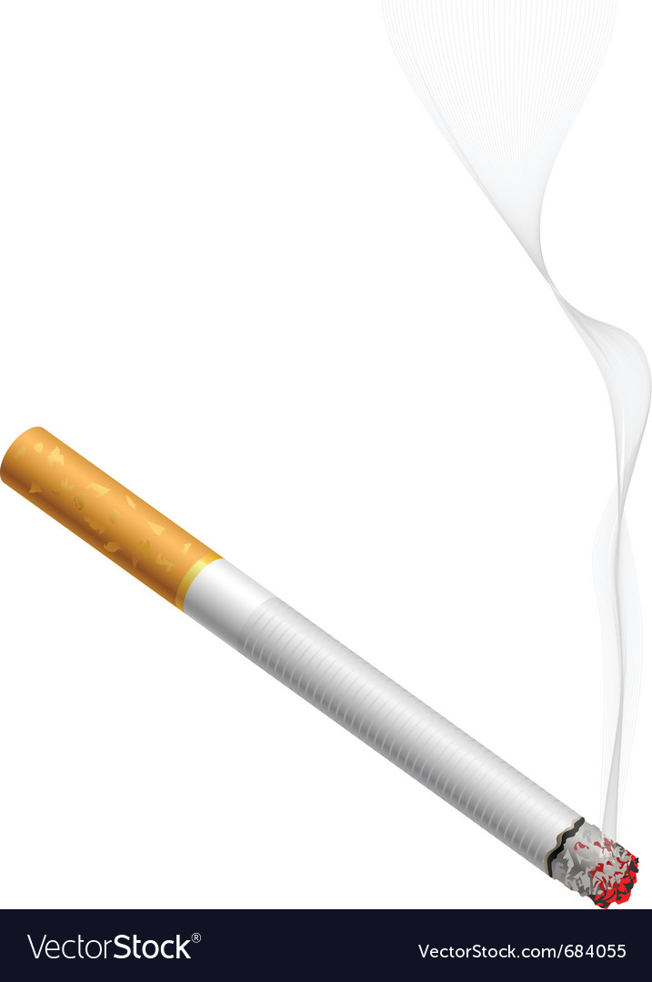 Smoldering cigarette vector | Price: 3 Credit (USD $3)