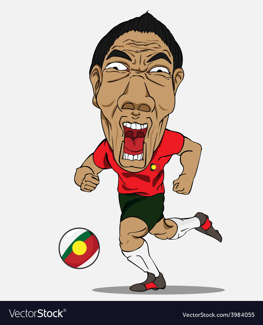 Soccer player portugal vector | Price: 1 Credit (USD $1)