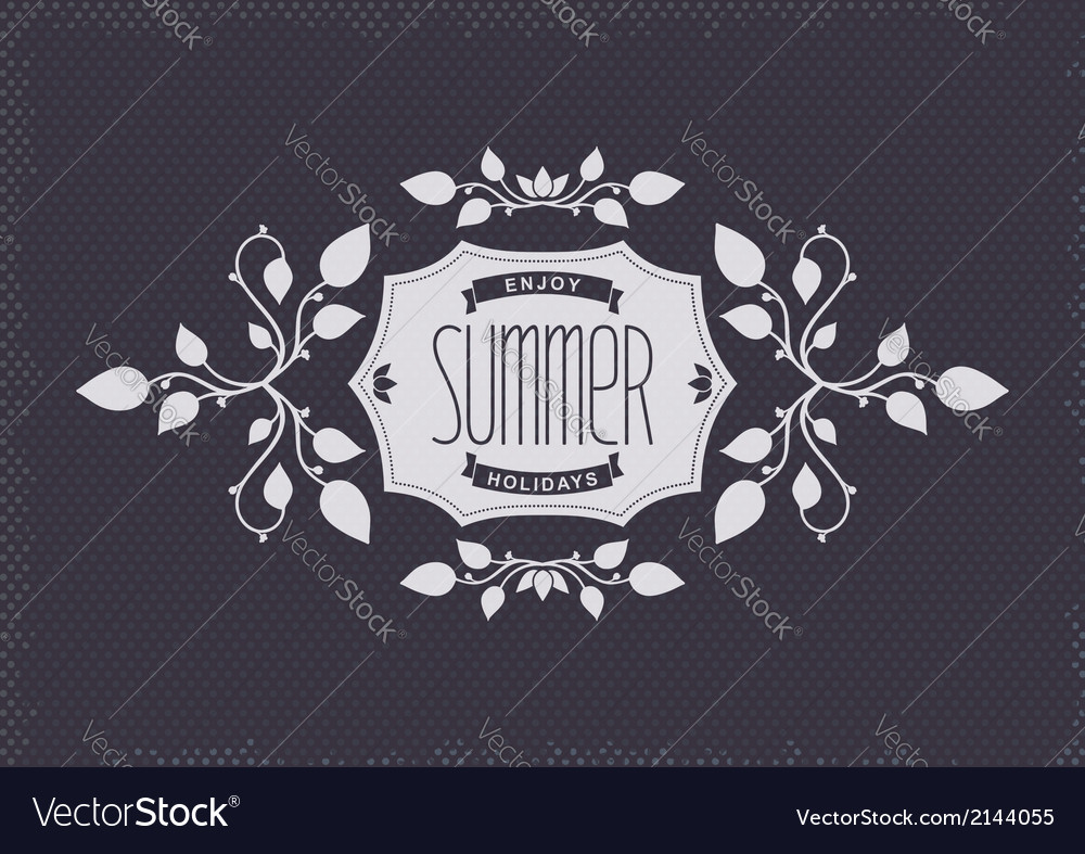 Summer vintage elements vector | Price: 1 Credit (USD $1)