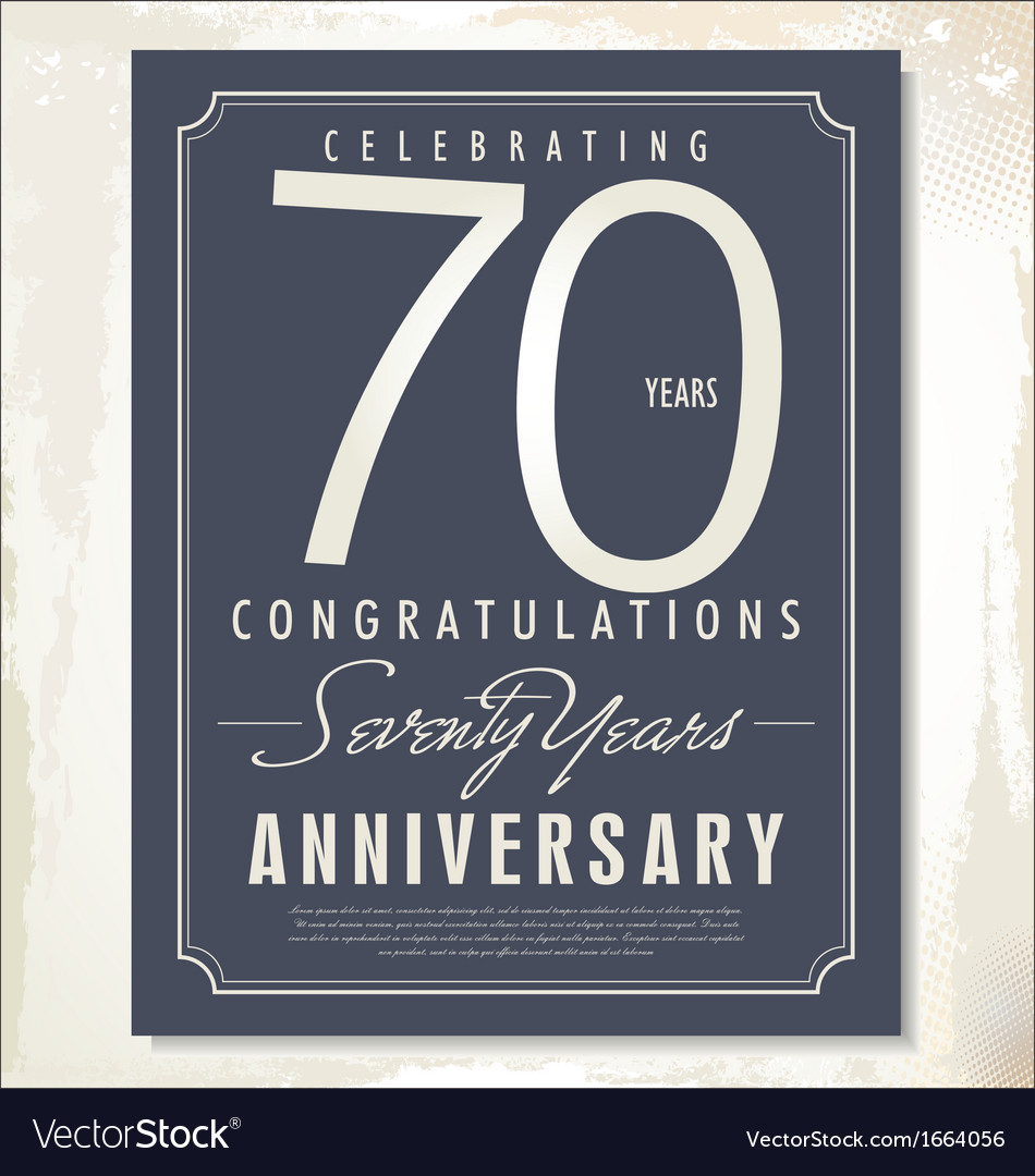 70 years anniversary background vector | Price: 1 Credit (USD $1)