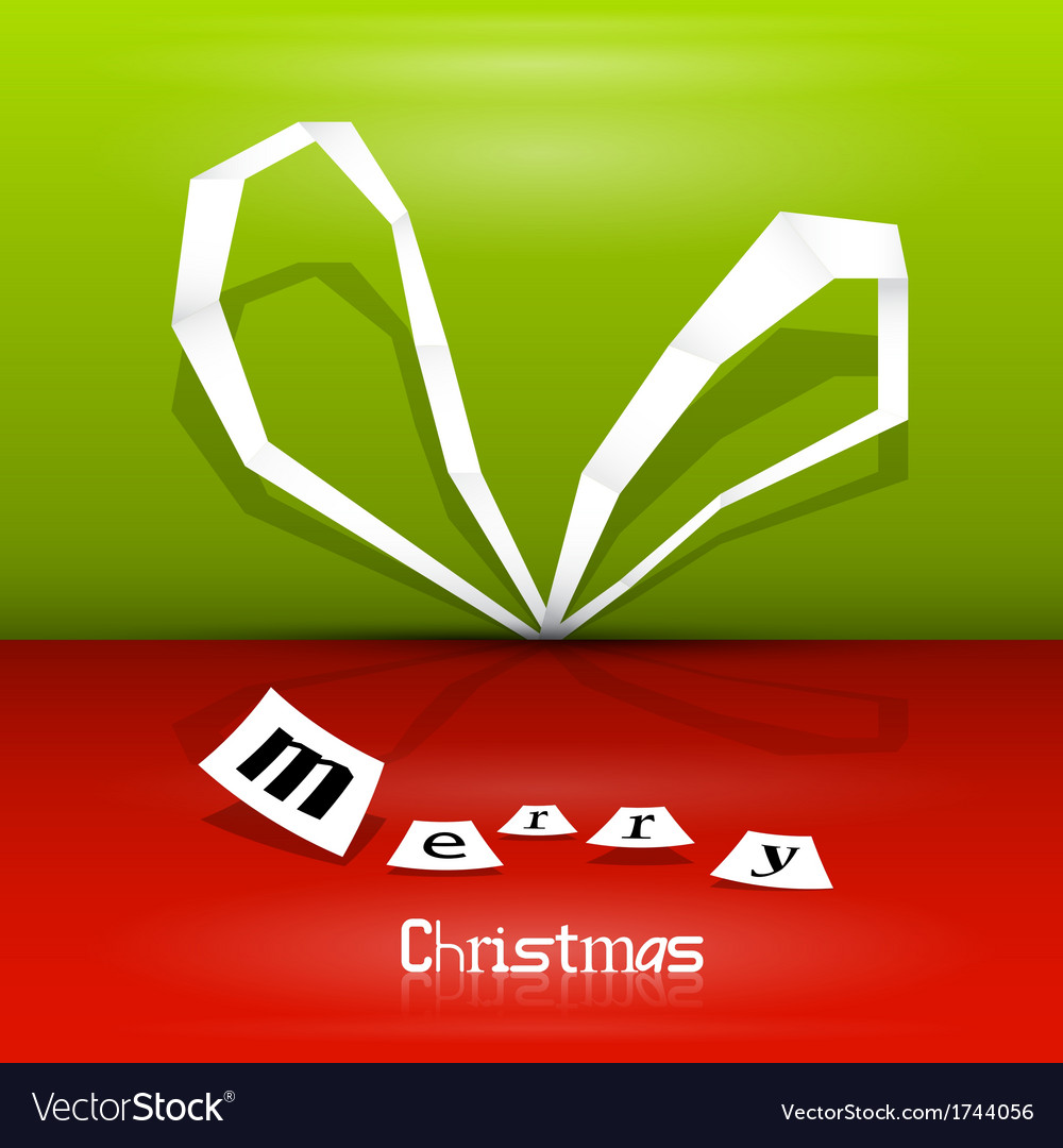 Abstract christmas ribbon vector | Price: 1 Credit (USD $1)