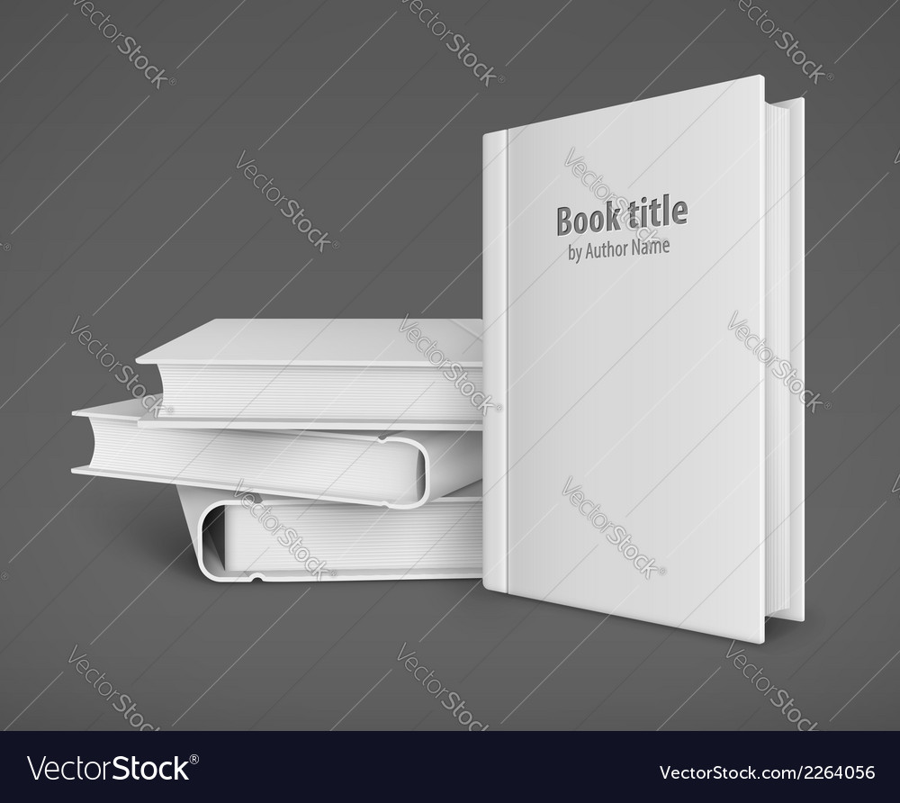 Book template with white vector | Price: 1 Credit (USD $1)