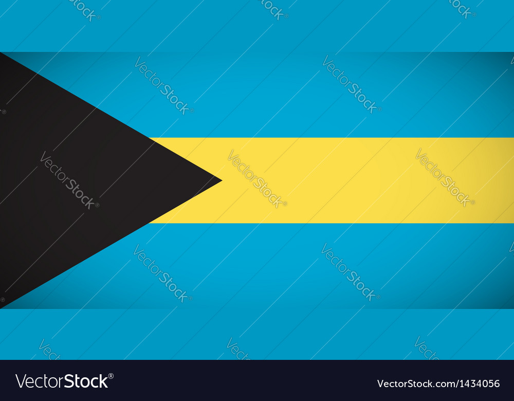 National flag of the bahamas vector | Price: 1 Credit (USD $1)