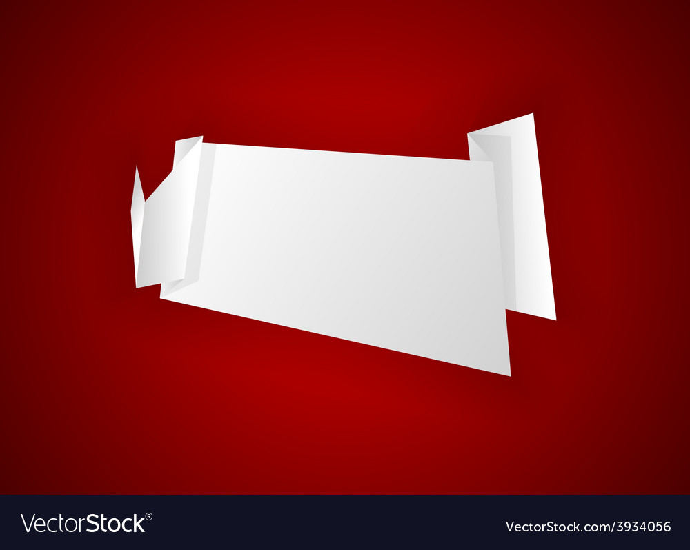 Origami paper vector | Price: 1 Credit (USD $1)