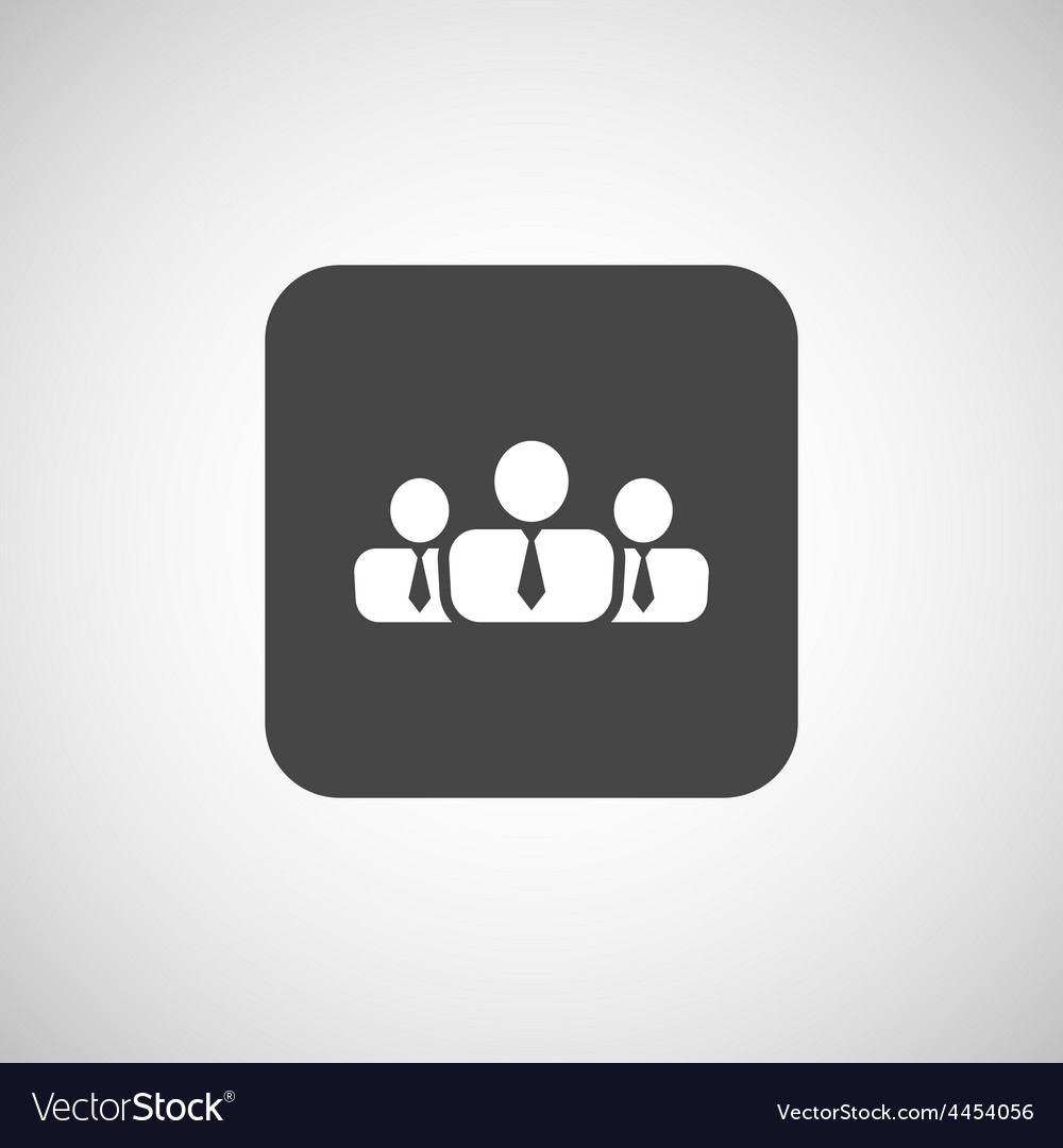 People icon business communication relationships vector | Price: 1 Credit (USD $1)