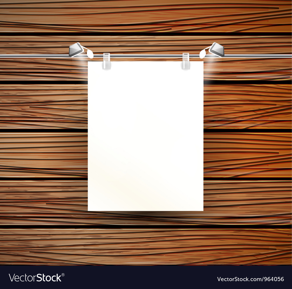 Place for poster and wooden wall vector | Price: 1 Credit (USD $1)