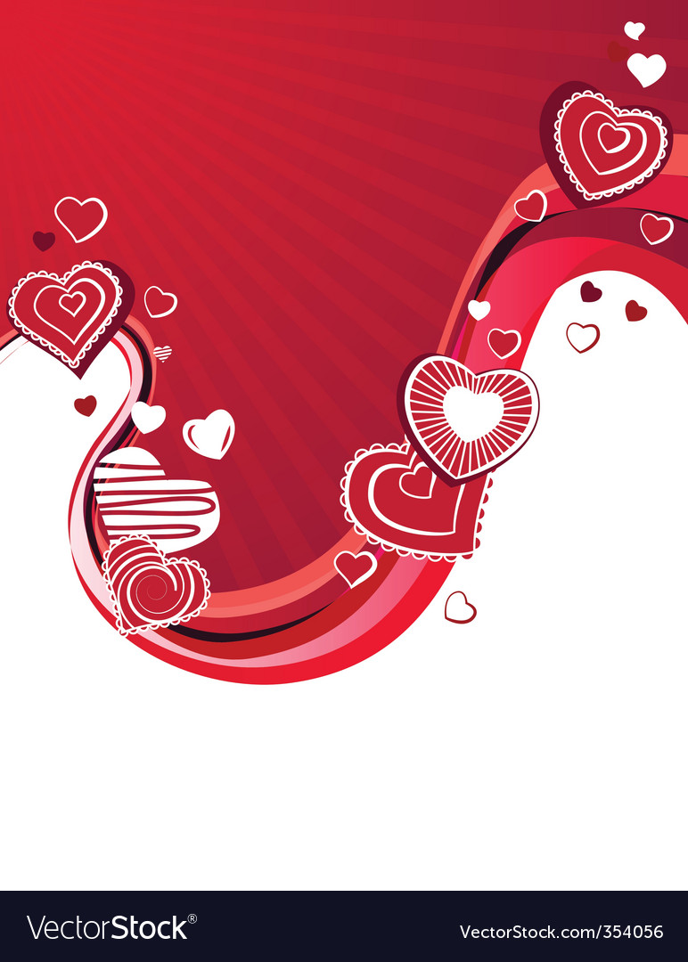 Red hearts on abstract background vector | Price: 1 Credit (USD $1)