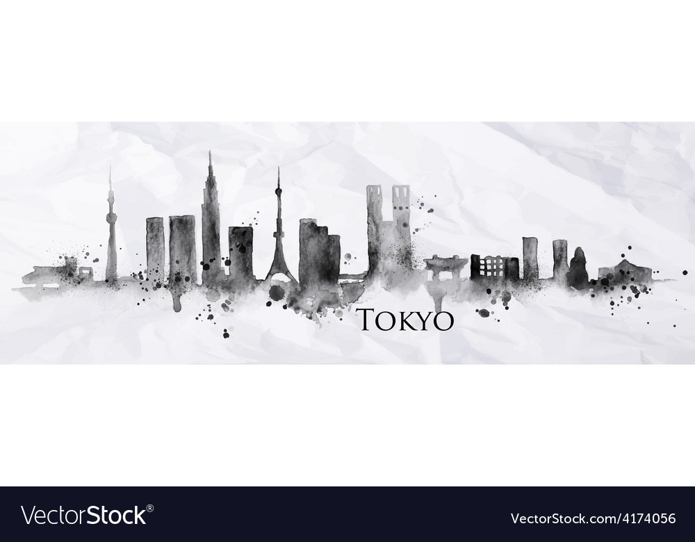 Silhouette ink tokyo vector | Price: 3 Credit (USD $3)